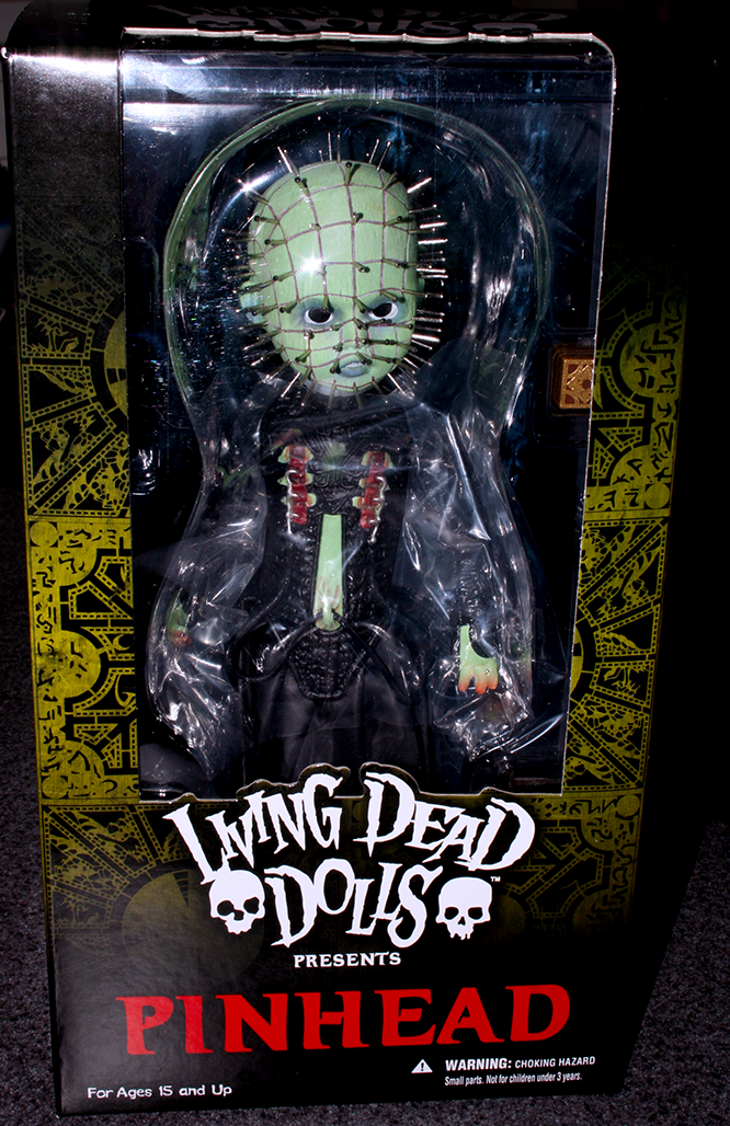 mezco living dead dolls glow in the dark pinhead mr frights